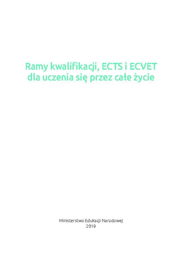 Ramy kwalifikacji, ECTS i ECVET dla uczenia się przez całe życie
