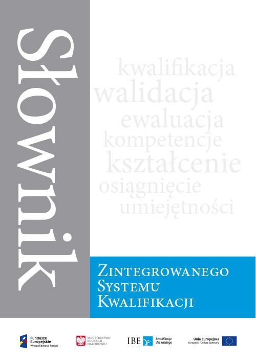 okładka Słownika Zintegrowanego Systemu Kwalifikacji