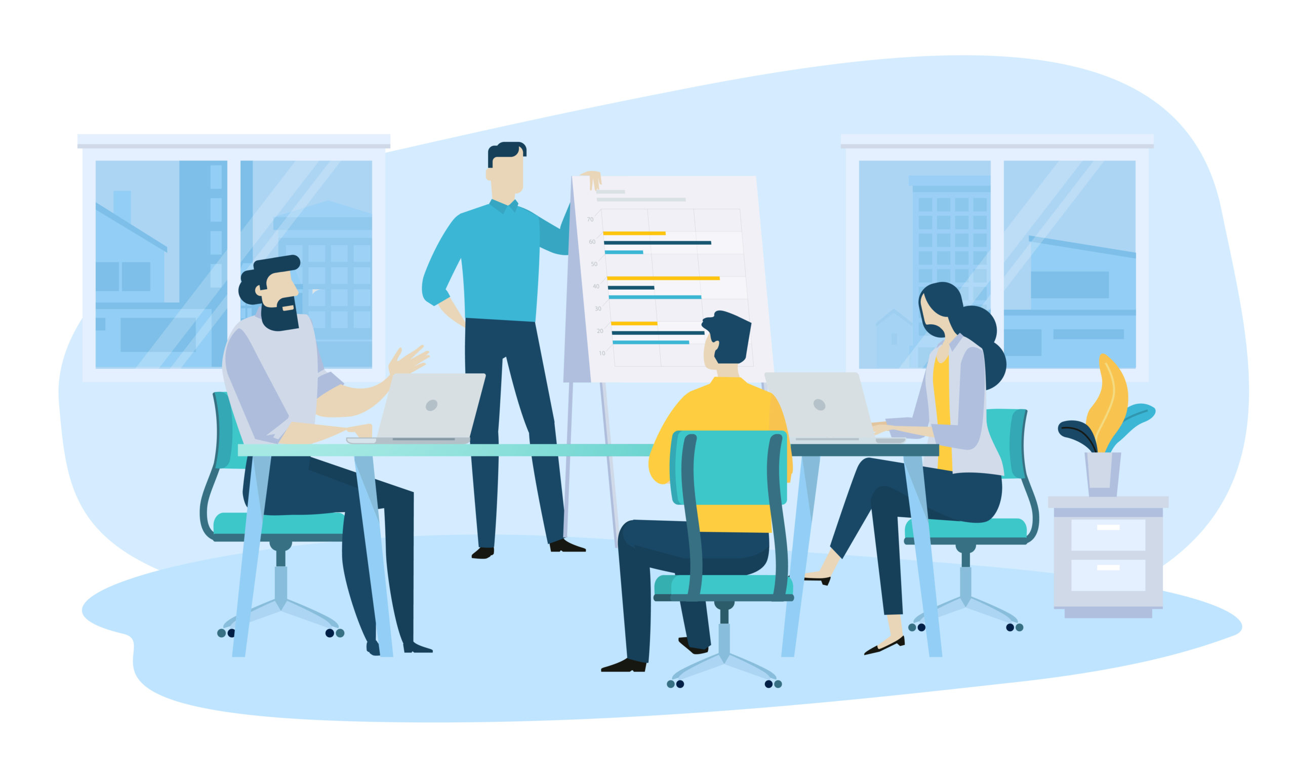 Przeznaczanie czasu pracy na wymianę wiedzy między pracownikami i wewnętrzne szkolenia